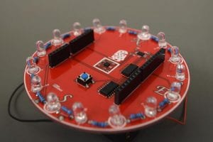 LED compass kit that entails soldering