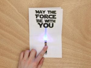 LED circuit for creating a lightsaber