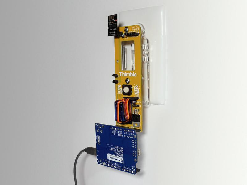 WiFi light switch on wall