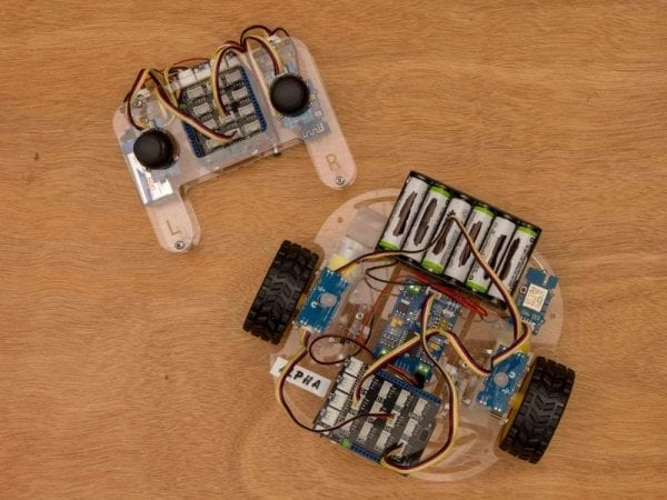 remote control next to WiFi robot project