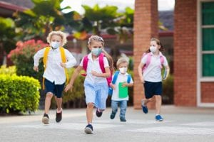 kids with COVID masks