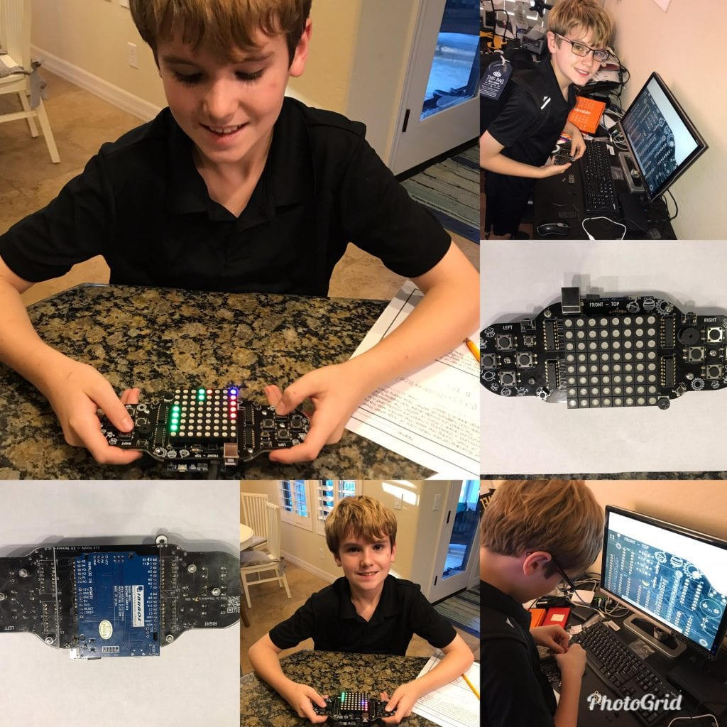 boy uses Thimble to make video game controller