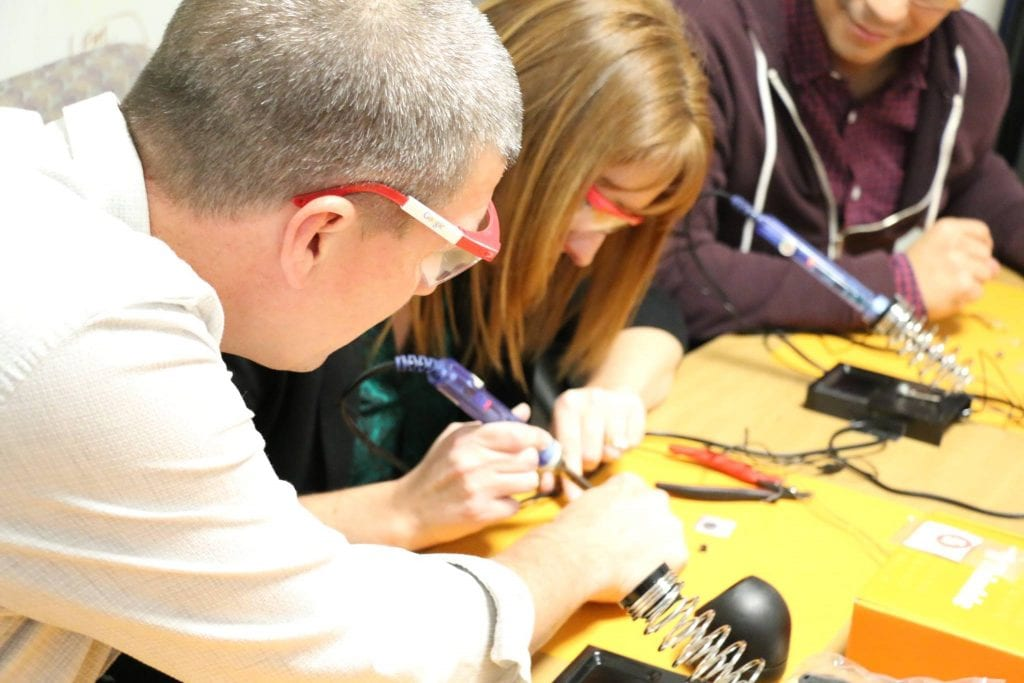 teachers learn to solder