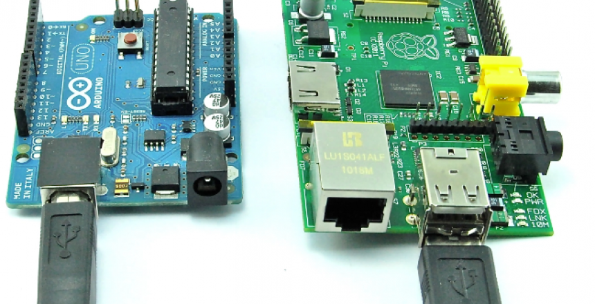 2 microcontrollers (arduino and raspberry pi)
