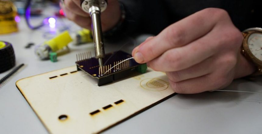 soldering arduino project